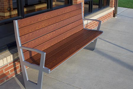 New Creekview Bench with Back