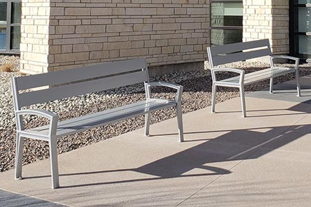 New Everett Bench with Back