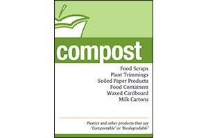 Standard Compost Signage for compost receptacles